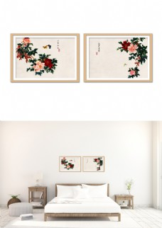 中国风牡丹花开富贵装饰画