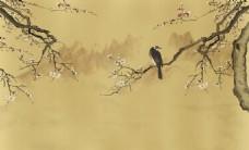 梅花小鸟国画装饰画