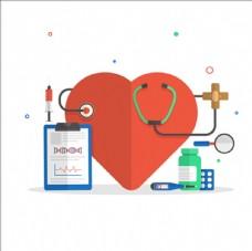 医院医疗元素插图