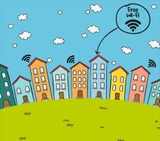 有免费wifi的房子背景