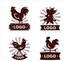 四款公鸡鸡肉标志