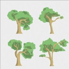 四款树木集合