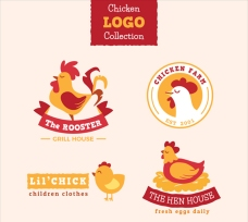 四款鸡肉商标