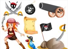 女海盗和其他海盗元素