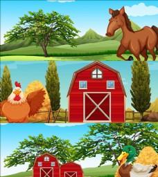 动物在农场的插图