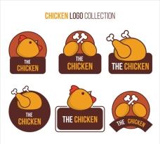 精选手绘鸡肉商标
