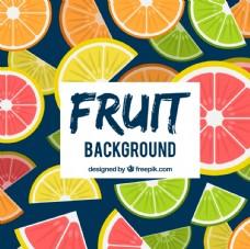 彩色水果切片装饰图案背景