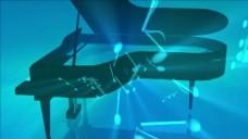 钢琴音符视频背景素材