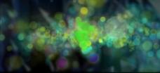 彩色粒子光斑视频背景