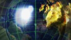 旋转地球仪蓝色科技感开场片头视频素材