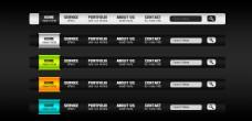 淘宝网站质感导航PSD分层素材