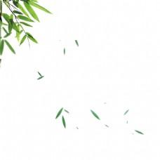漂浮的竹叶png免扣元素
