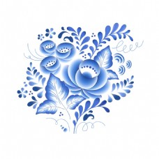 青花瓷中国风典雅花素材