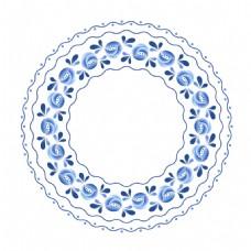 花苞青花瓷中国风素材