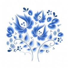 青花瓷花纹素材