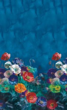 油画定位花装饰画
