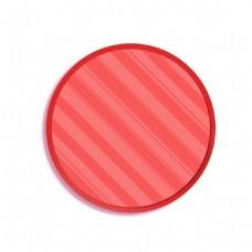 粉色条纹圆形装饰png免扣元素