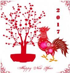 中国传统春节剪纸矢量素材