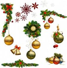 手绘圣诞装饰元素