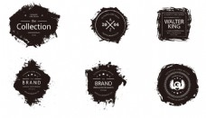 花纹简单黑色图标