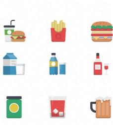速食食物小图标