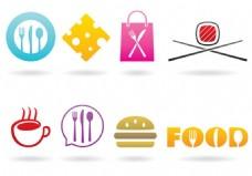 美食工具宣传广告图标