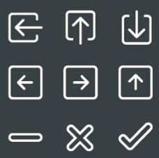 方向符号白色常用小图标