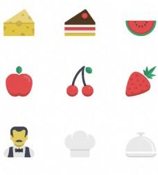 草莓食物小图标