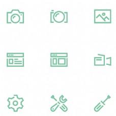 摄像机绿色图标