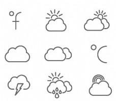 简约天气黑色图标