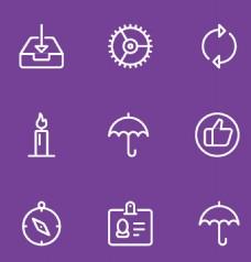 雨伞紫色常见图标