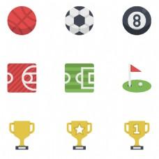 奖杯运动标签图标