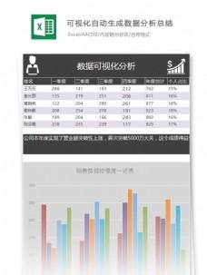 可视化自动生成数据分析总结excel表格