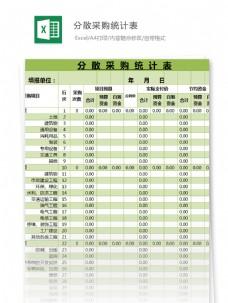 分散采购统计表表excel模板表格
