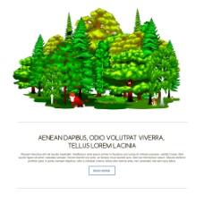 清凉翠绿的树林插画