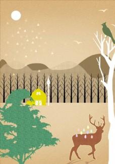 森林风景插画