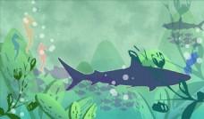 河流鱼类插画