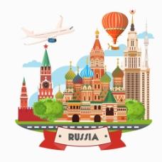 创意俄罗斯建筑插画
