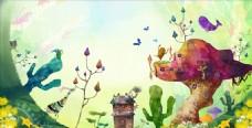 魔法森林插画