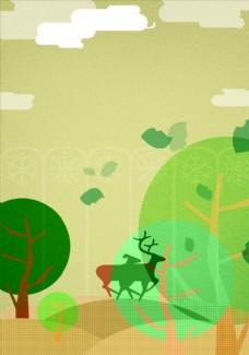 森林动物插画
