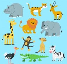 11款可爱野生动物矢量