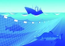 海底的鱼类插画