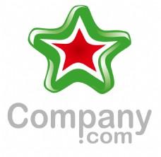 五角形标志绿色渐变logo设计