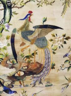 凤凰刺绣纹样