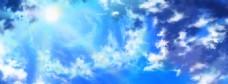 蓝色梦幻电商banner背景