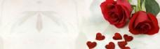 唯美红玫瑰banner背景