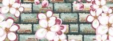简约花朵banner背景