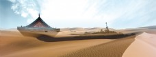 沙漠风景banner背景