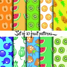 热带水果图案矢量素材