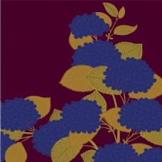 蓝色花朵背景图